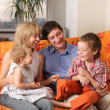 Stock Photo: Happy family of the house on a sofa 5