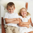 Brother with sister — Stock Photo