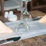 White Fine Table Setting — Stock Photo #3141120