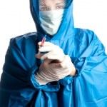 Medicine doctor with vaccine — Stock Photo