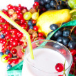 Dairy cocktail with berries. — Stock Photo