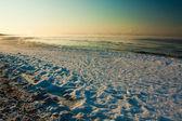 Vapeur monte de la mer — Photo
