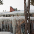Icicle building — Stock Photo