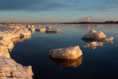 Sea on sunset — Stock Photo