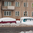 Stock Photo: Car in Snowbank