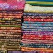 A pile of colorful fabrics — Stock Photo