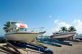 Bateaux de mer parking, pattaya — Photo