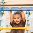 The boy on the playground — Stock Photo