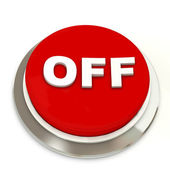 Red button with text OFF — Stock Photo