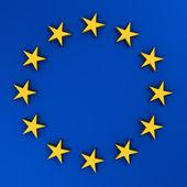 3d EU flag — Stock Photo