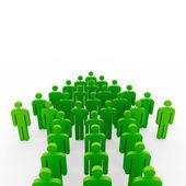 Conceptual image of teamwork — Stock Photo