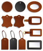 Leather labels — Stockvektor