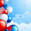 Independence Day background - Imagens vectoriais em stock