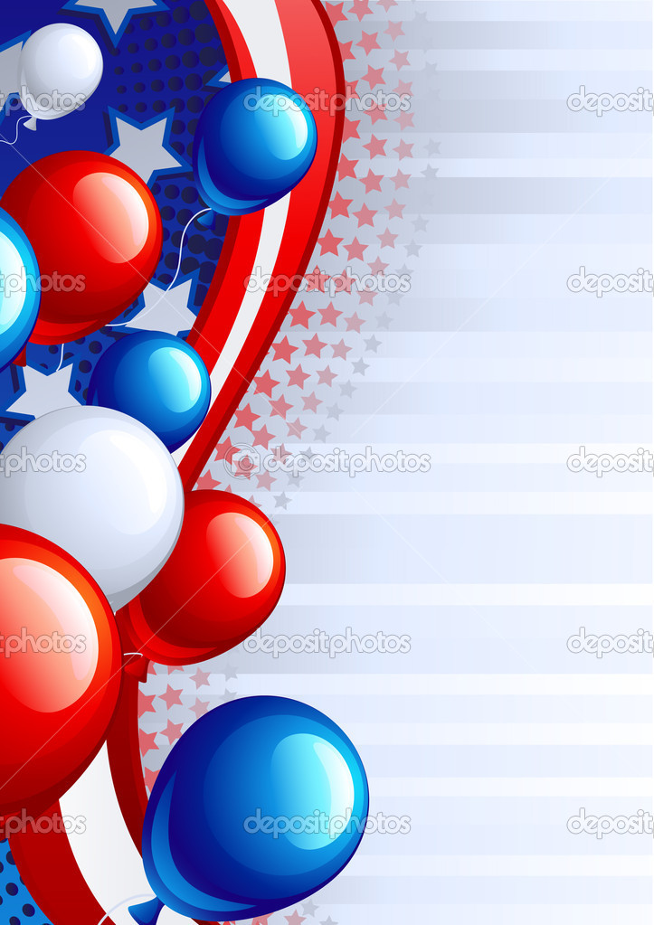 Vector illustration  of fourth of July celebration abstract background   Stock Vector #2991785