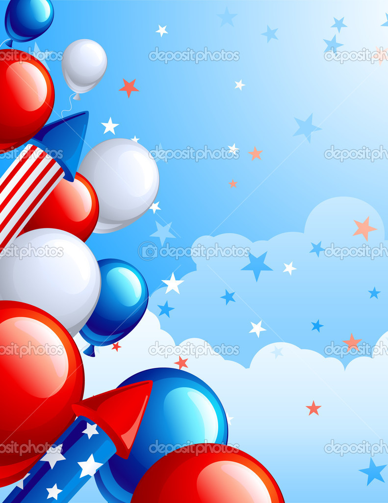 Vector illustration  of fourth of July celebration abstract background  — Stock Vector #2994271
