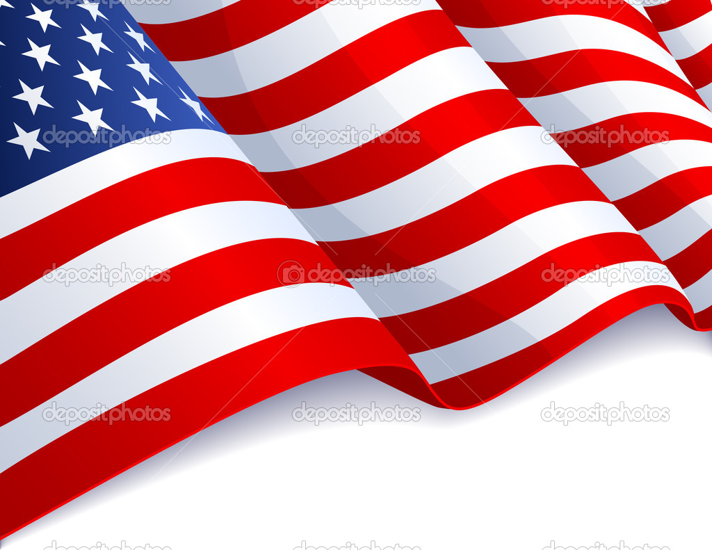 Vector illustration - USA flag in white background — Stock Vector #2996302