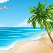 Tropical landscape - Stockvectorbeeld