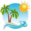 Tropical island — Image vectorielle
