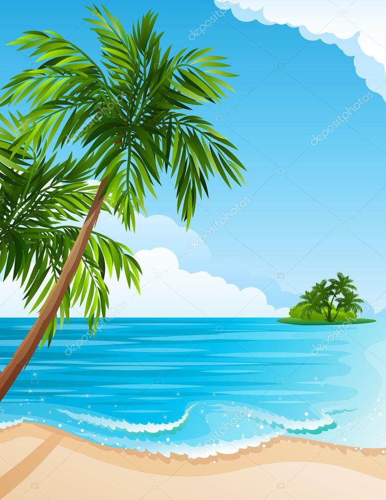 Tropical Landscape Stock Vector Jut13 3047098