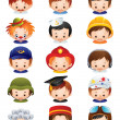 Royalty-Free Stock Vector Image: Occupation icons