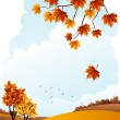 Autumn landscape — Vector de stock
