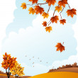 Autumn landscape — Stock Vector