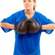 Woman in boxing gloves — Stock Photo #2871184