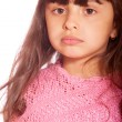 Quiet dark-haired little girl — Stock Photo #2871321