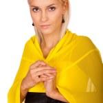 金髪の若い女性の肖像画 — ストック写真