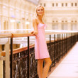 Стоковое фото: Beautiful girl at handrail