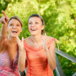 Two laugh teenage girls — Stock Photo #2871554
