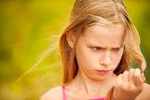 Portrait of young girl-teenager — Stock Photo
