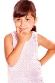 Girl with a thoughtful expression — Stock Photo