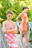 Two young and beautiful girls — Stock Photo