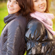 Two young attractive women's portrait — Stock Photo