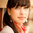 Beautiful girl with kerchief on neck - Stock Photo