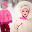 Two sisters walk — Stock Photo #3245512