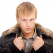 Courageous min winter jacket — Stock Photo #3247035