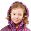 Little girl in coat with hood — Stock Photo #3247087