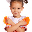 Little girl with bows in hair — Stock Photo
