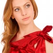 Beautiful model in red dress — Stock Photo #3247251