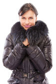 Beautiful girl in warm coat — Stock Photo