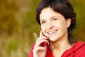 I park talar via telefon — Stockfoto