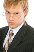 Portrait of young businessman close up — Stock Photo