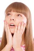 žena v šoku — Stock fotografie
