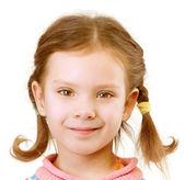 Portrét holčička zblízka — Stock fotografie