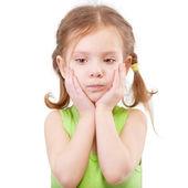 Retrato de niña ofendida — Foto de Stock