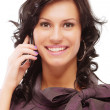 Charming girl speaks by phone — Stock Photo