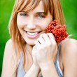 Girl with berries — Stock Photo
