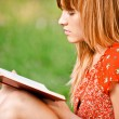Woman reads book — Stock Photo #3762786